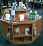 display of banned and challenged books